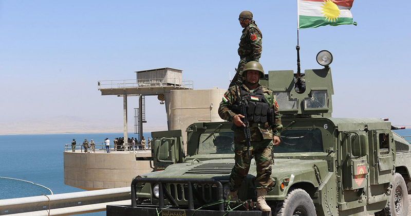 Peshmerga troops receive 54 armored vehicles from the US