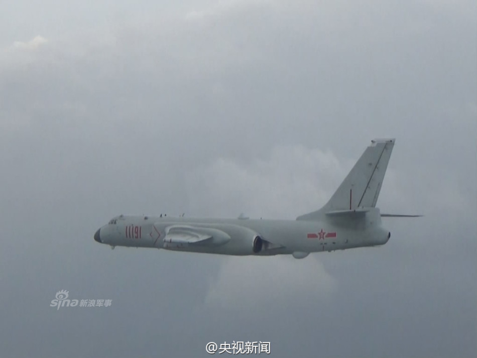 Beijing Uses Its Nuclear Capable H-6K Bomber to Patrol over South China Sea