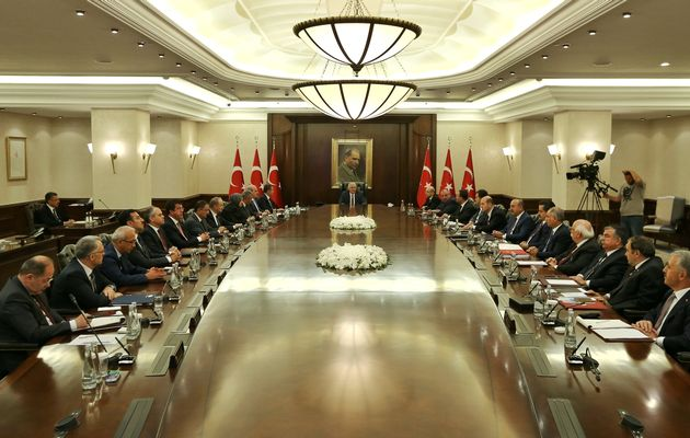 Turkish Prime Minister Binali Yildirim chairs a cabinet meeting in Ankara, Turkey, July 18, 2016. Image by: HANDOUT/ Hakan Goktepe/Prime Minister's Press Office / REUTERS