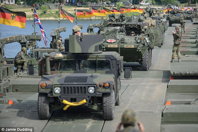 German and British forces practice an offensive river crossing in Poland during NATO exercise Anakonda 16, June 7-17th. June, 2016 marks the 75th anniversary of Nazi Germany's Operation Barbarossa in 1941, a message not lost on Russian political and military leadership.