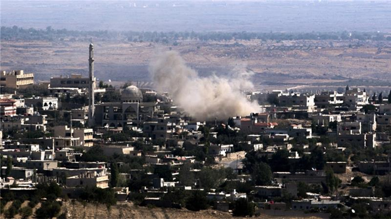 Israeli Air Strike Hit Syrian Town near Golan Heights?