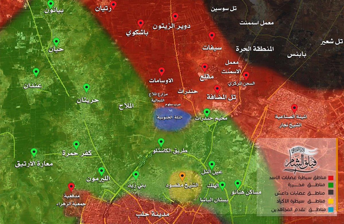 Heavy Clashes for Castello Road, Aleppo City (Video, Map)