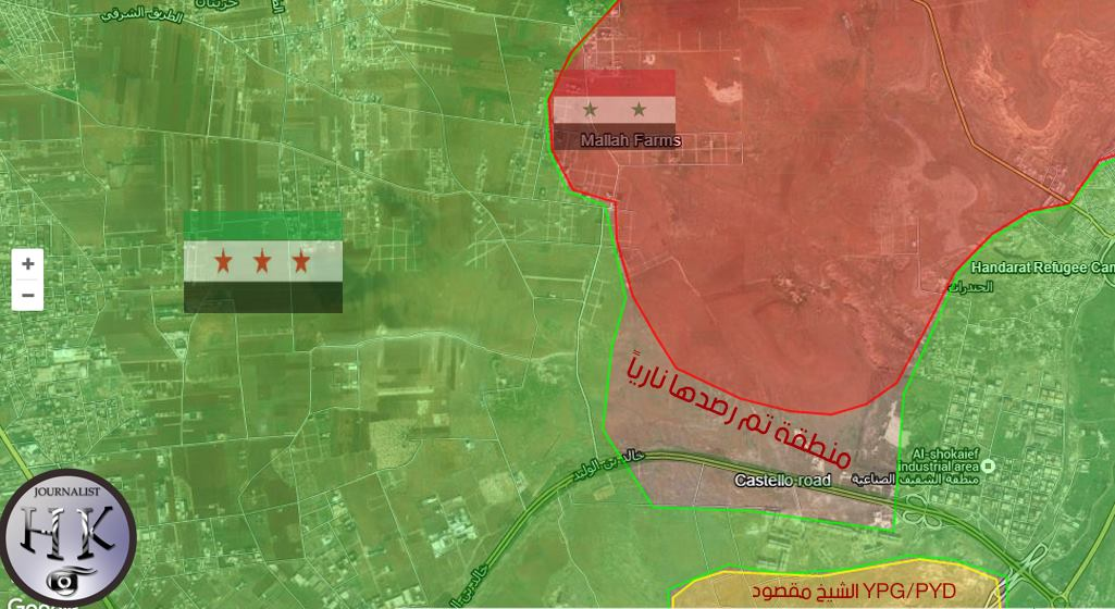 Syrian Army and Kurdish YPG Engage Terrorists Directly at Castello Highway (Maps, Video)
