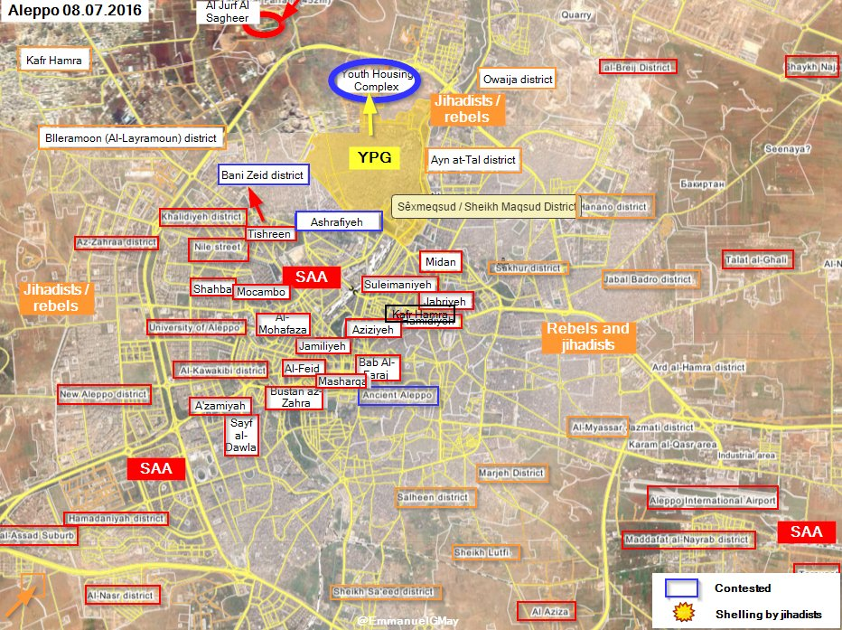 Syrian Army and Kurds Advancing Closer to Castello Road (Video)