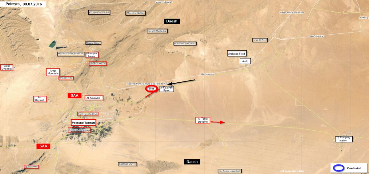 Syrian Army Repells ISIS Attack Sotuheast of Palmyra