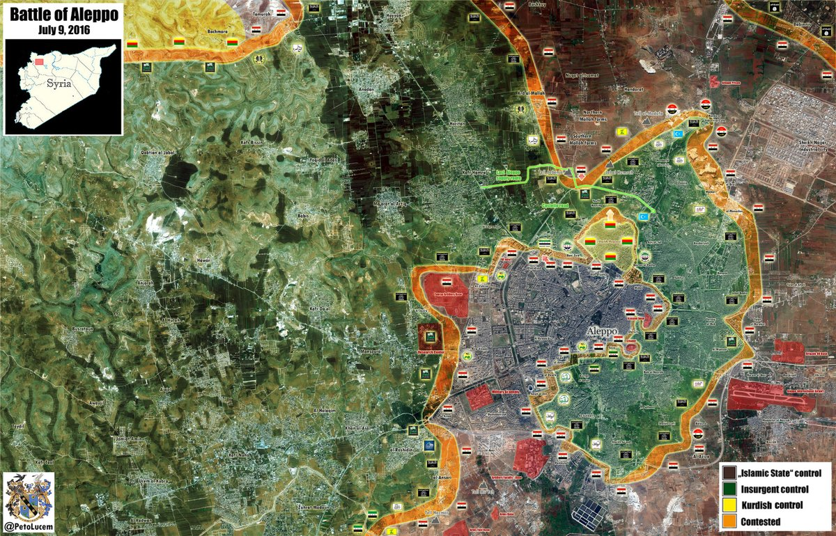 Battle for Castello Road to Aleppo City on July 9