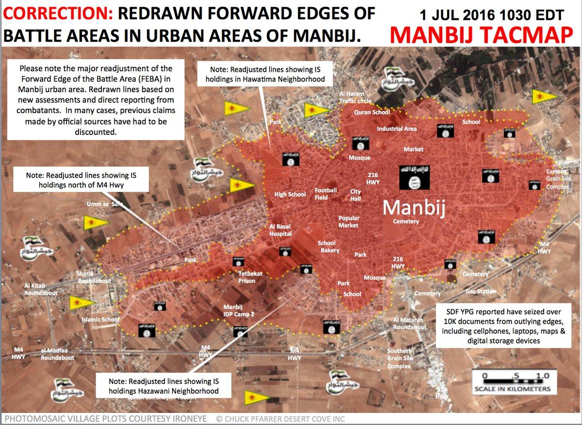 Syria: Battle for Manbij on July 1