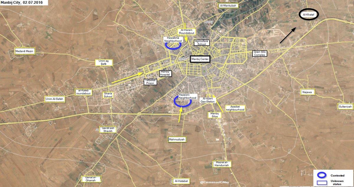ISIS Militants Retake Control of Al-Khataf near Syria's Manbij