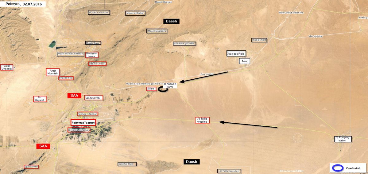 Situation Escalates near Palmyra, ISIS Seizes al-Kaziyah Farm