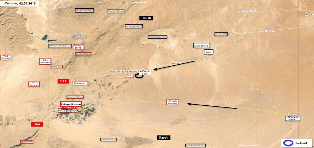 Situation Escalates near Palmyra, ISIS Seizes al-Kaziyah Farm