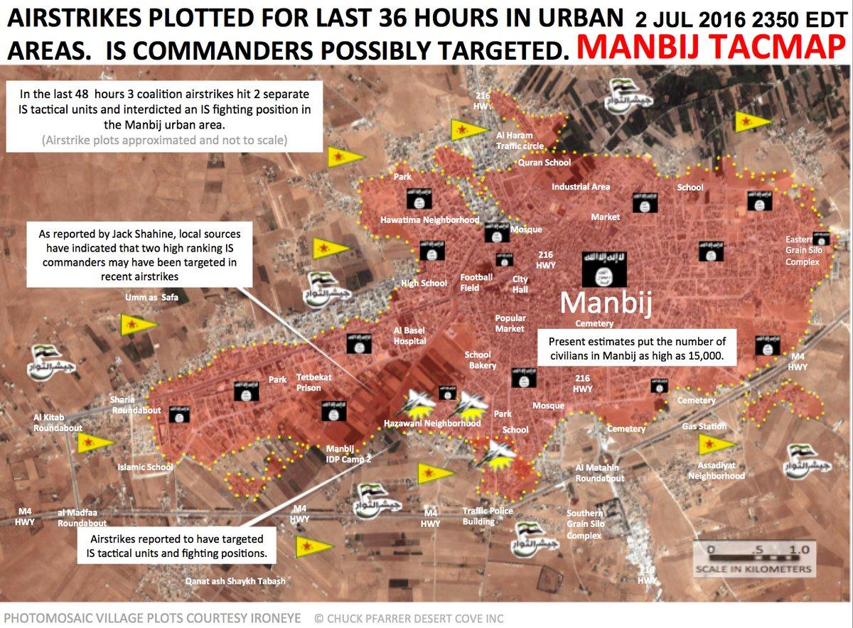 US-led Coalition Renews Heavy Air Strikes in Manbij, Syria