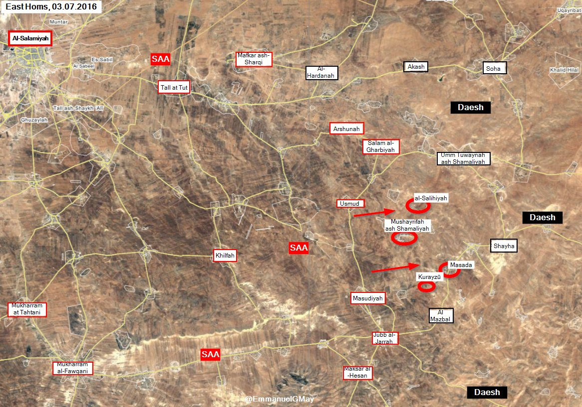 Syrian Army Liberates 4 Villages from ISIS in East Homs