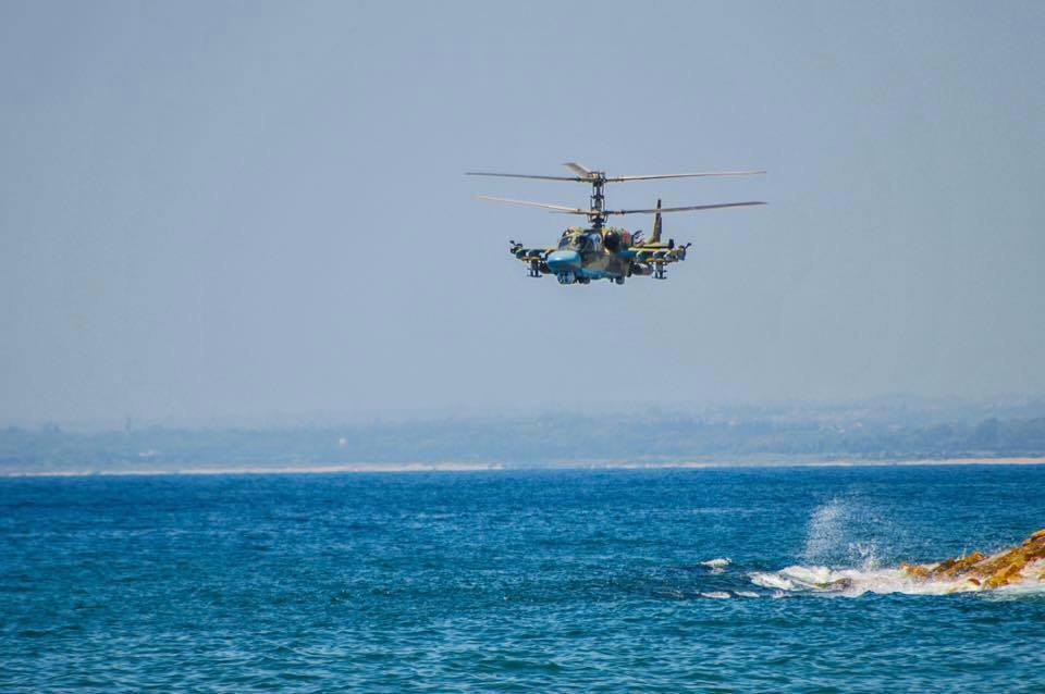 Russia's Ka-52 Helicopter Gunship over Latakia's Coast (Photos from Syria)
