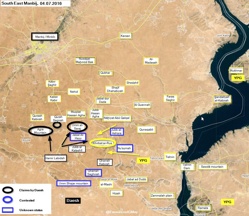 Syrian Democratic Forces Engage ISIS South of Manbij