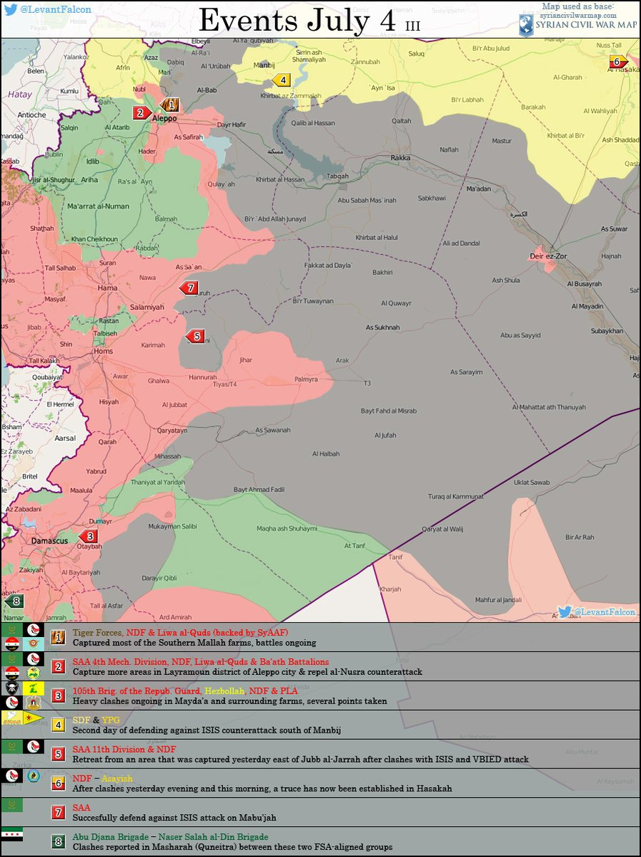 Important Military Developments in Syria on July 4
