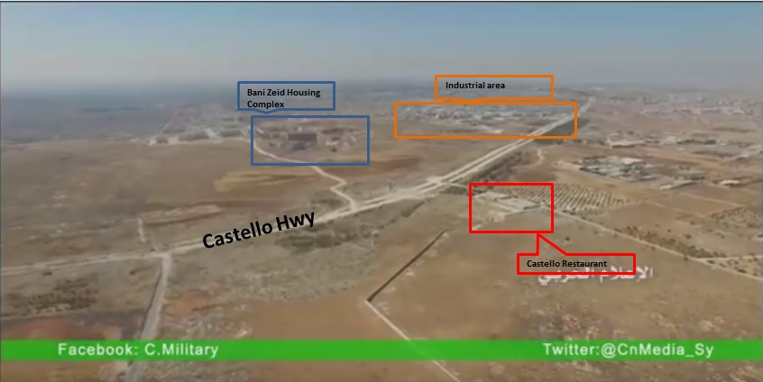 Drone Footage of Castello Highway at Aleppo City