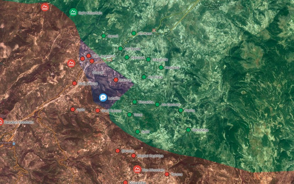 Military Situation in Northern Latakia on July 21