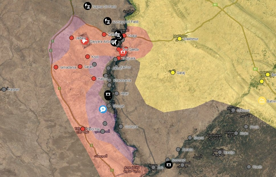 Iraqi Security Forces Advancing on ISIS Terrorists South of Mosul