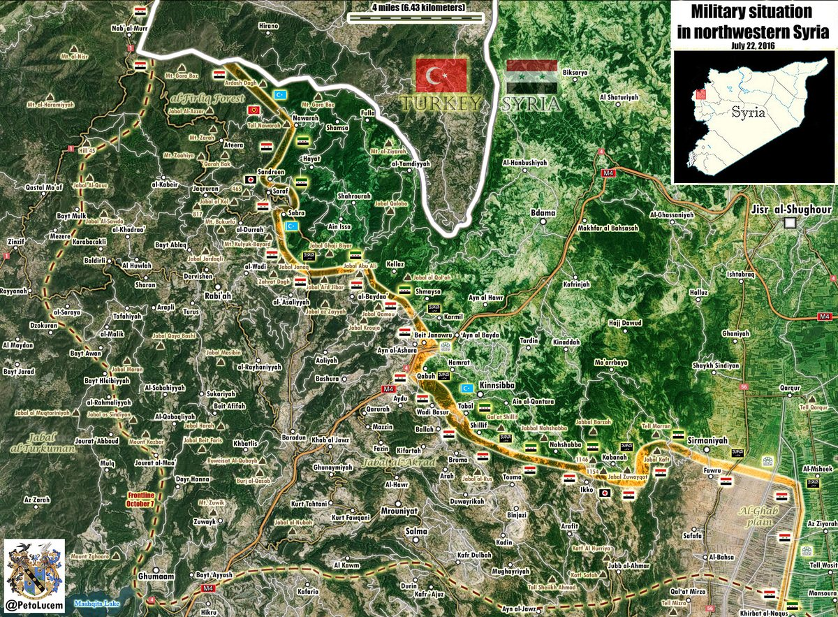 Military Situation in Northern Latakia on July 22