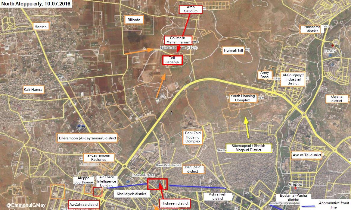 Battle for Castello Road, Aleppo City on July 10