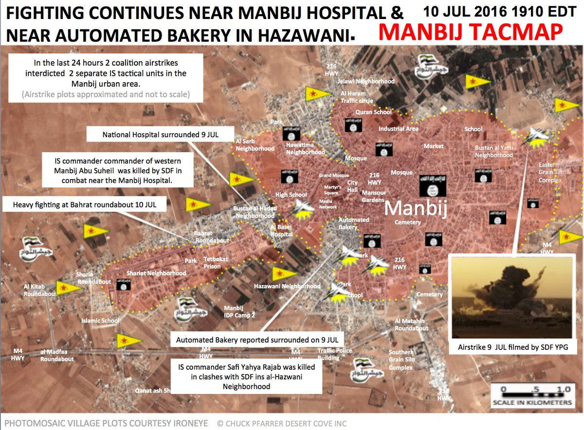 Syrian Democratic Forces Continue Operations in Manbij, Aleppo Province