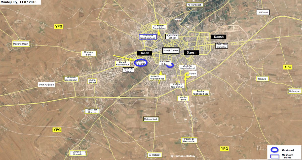 Syrian Democratic Forces Divide ISIS-controlled Areas in Manbij