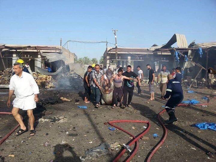 11 Killed, 37 Injured in ISIS Sucidide Bomber Attack at Food Market in Baghdad