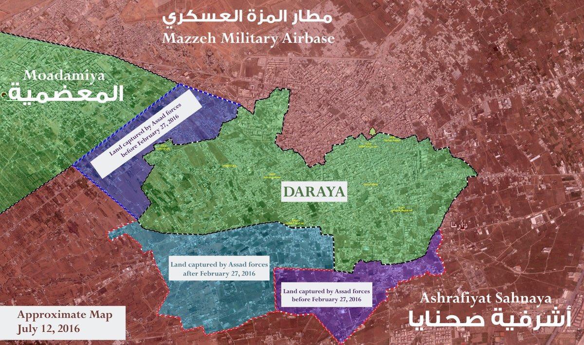 Syrian Army Conducting Urban Warfare Operations in Daraya