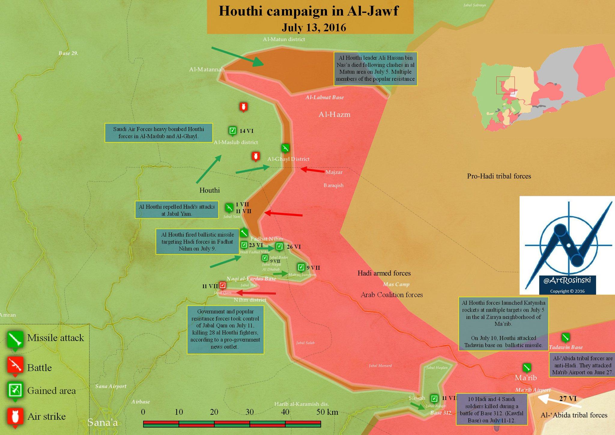 Yemen's Ballistic Missile Hit Saudi Military Base in Ma'rib Province