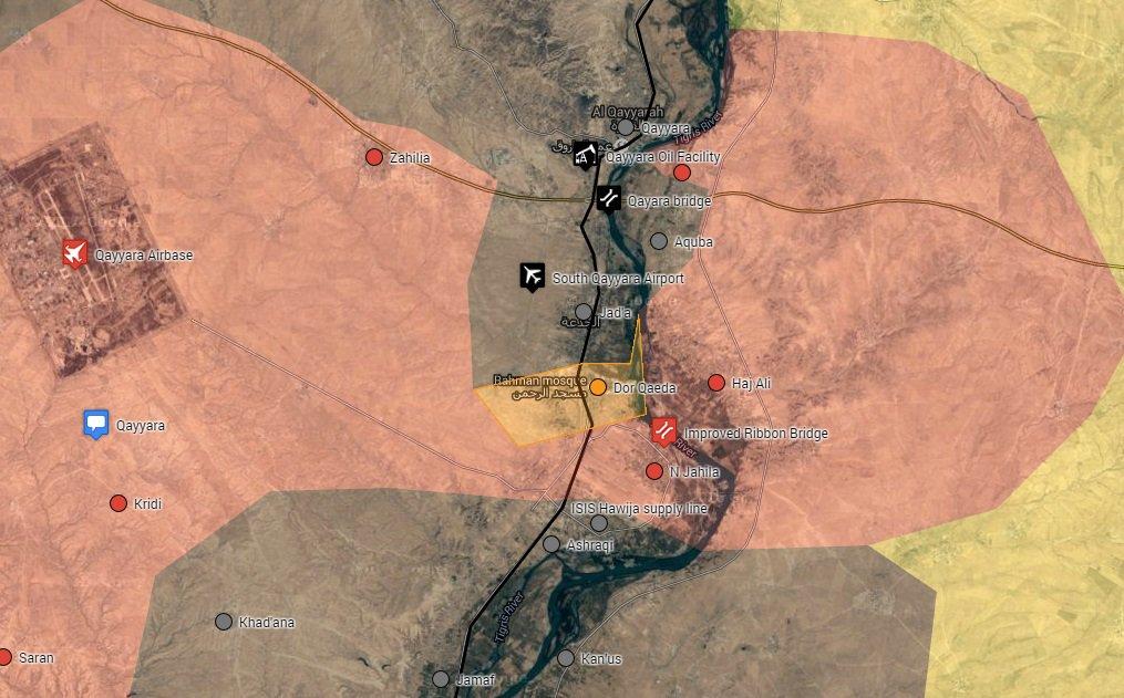Iraqi Security Forces Capture Dor Qaeda East of Qayyara Airbase