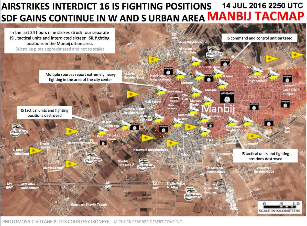 Syria: Heavy clashes in Manbij City Center