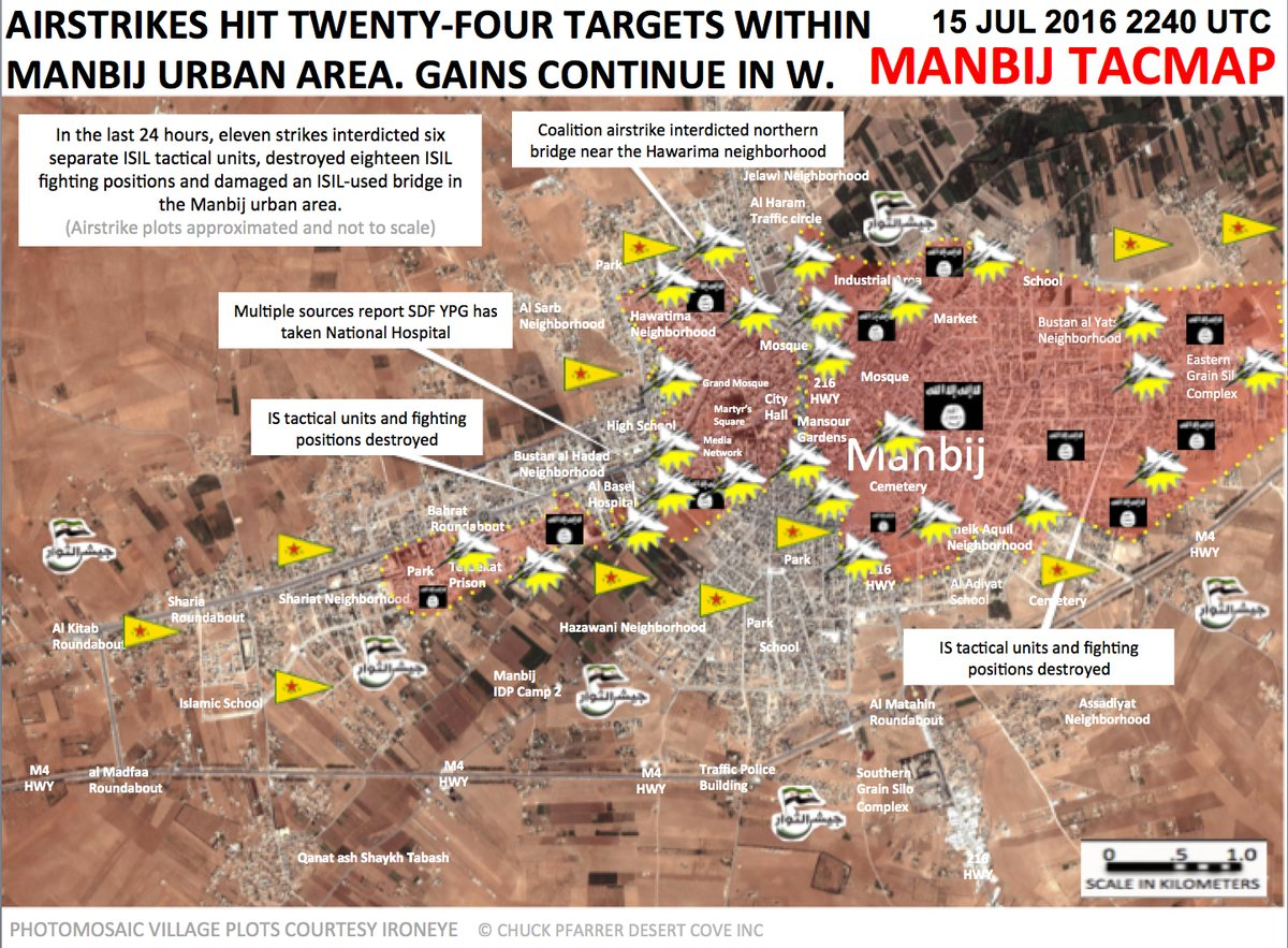 Heavy Airstrike Continue against Urban Targets in Syria's Manbij