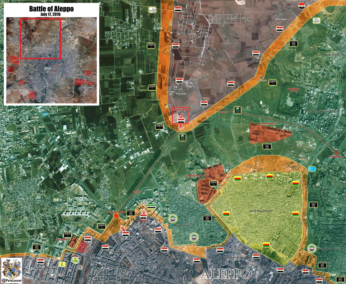 Syrian Army Reaches Castello Road and Sets Fire Control over Layramoun Roundabout