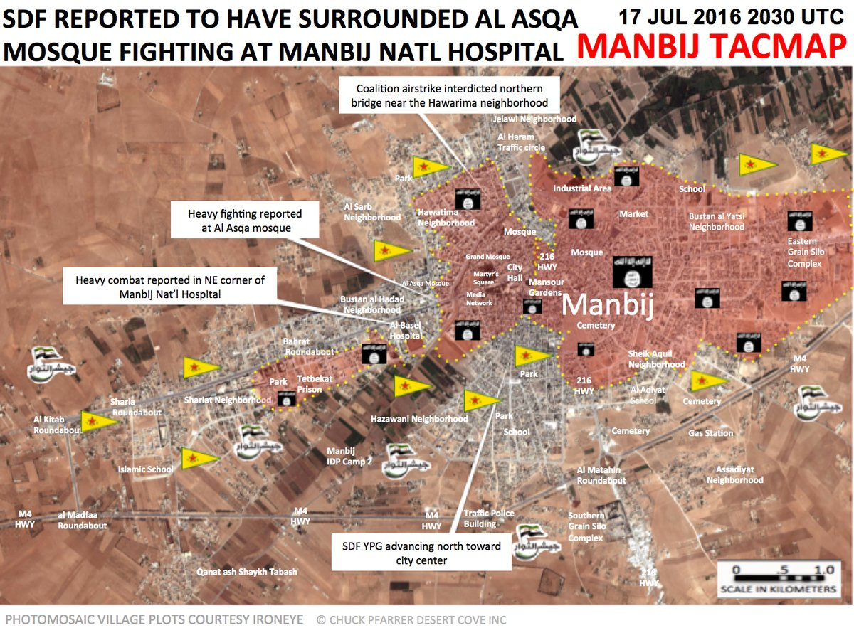 Syrian Democratic Forces Advancing Toward Manbij City Center