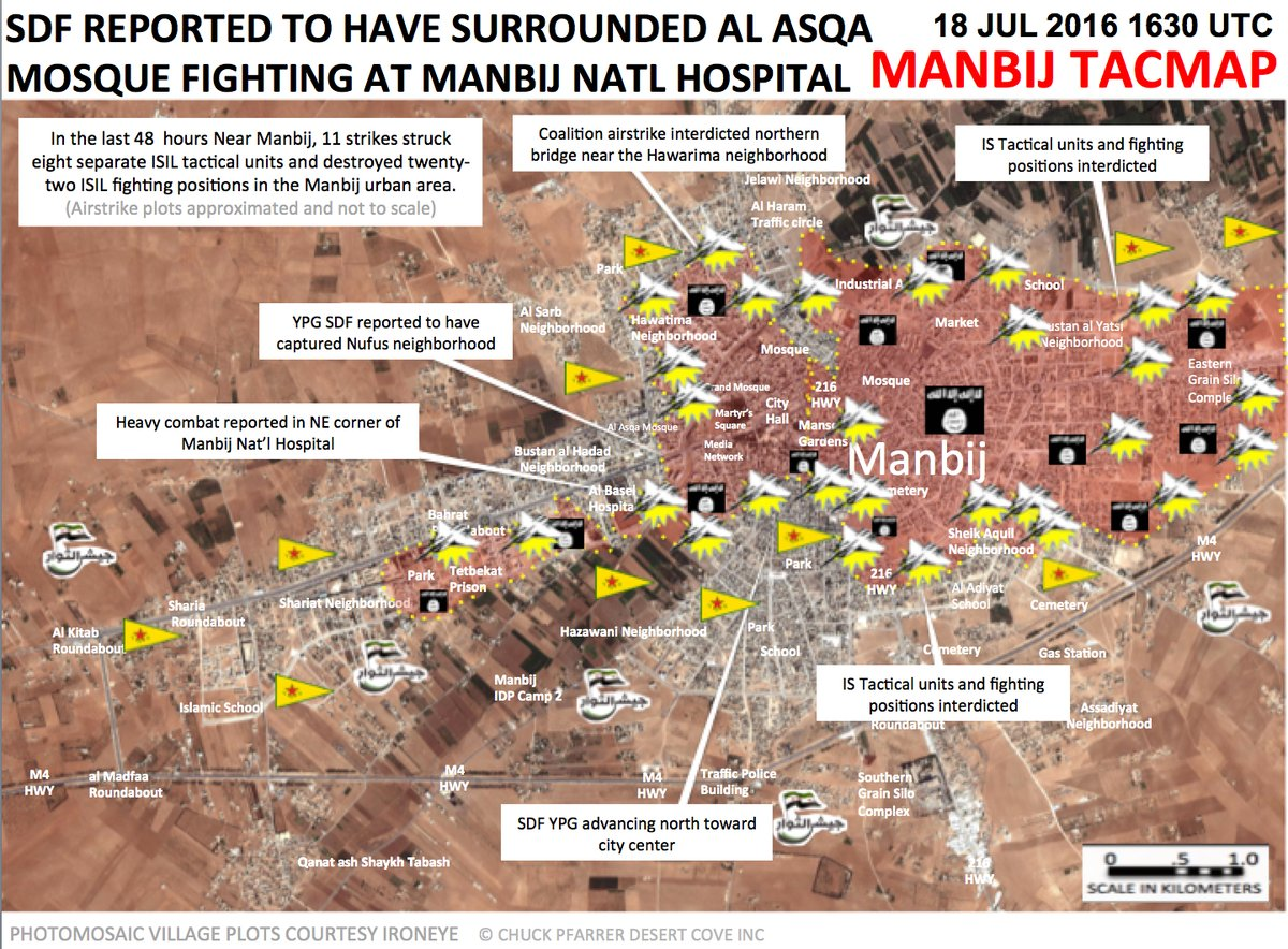 Military situation in Syria's Manbij - Map Update