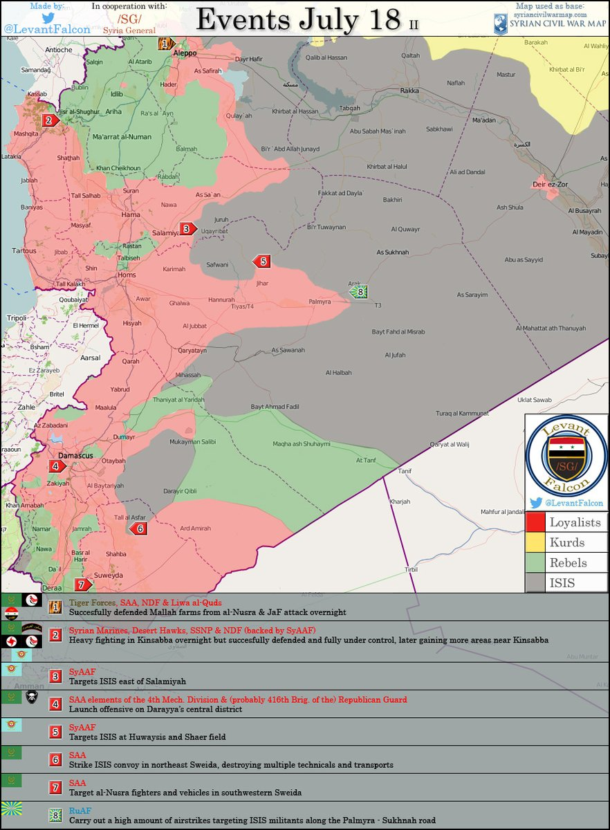 Military Situation in Syria on July 18