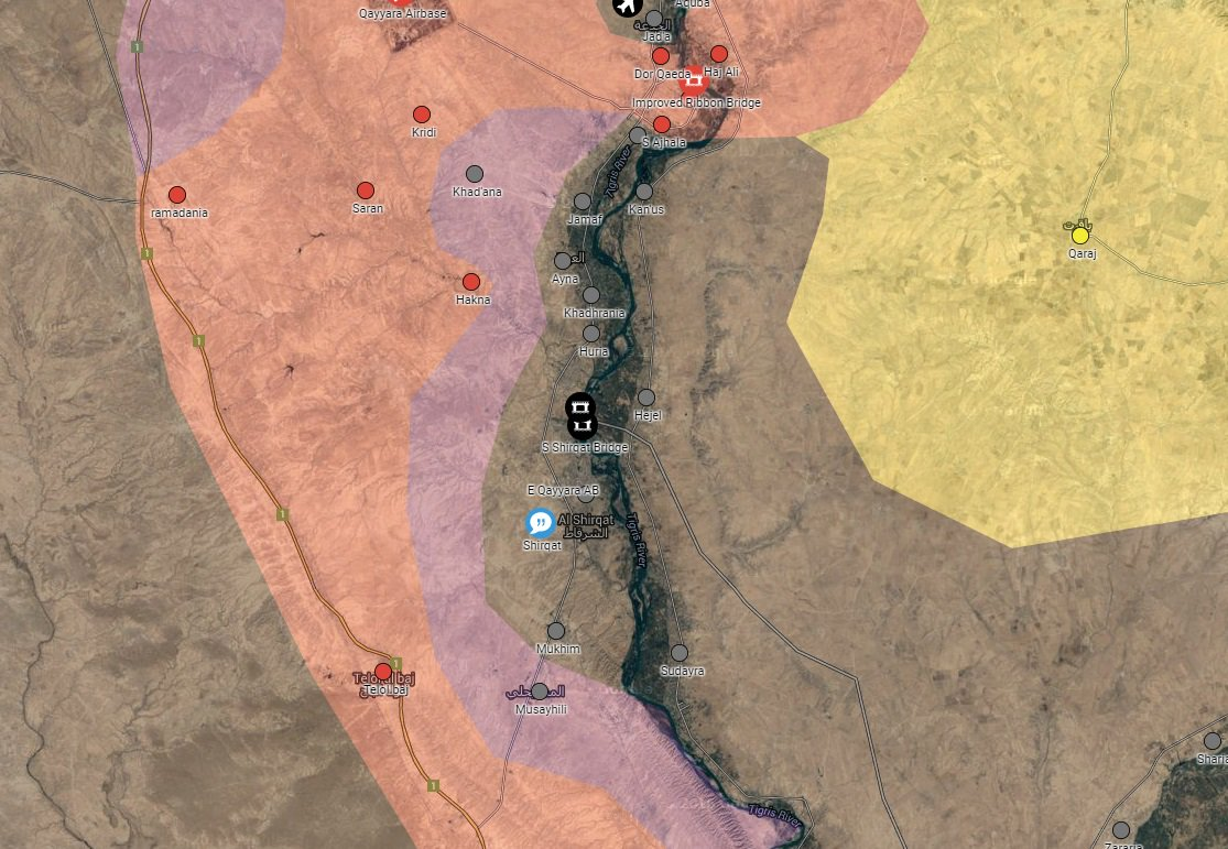 Iraqi Security Forces Conduct Operations South of Mosul