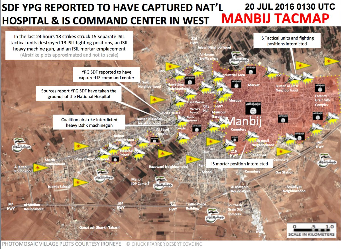 Syrian Democratic Forces Seize Western Part of Manbij amid US 'Accidental' Air Strikes against Civilian Targets