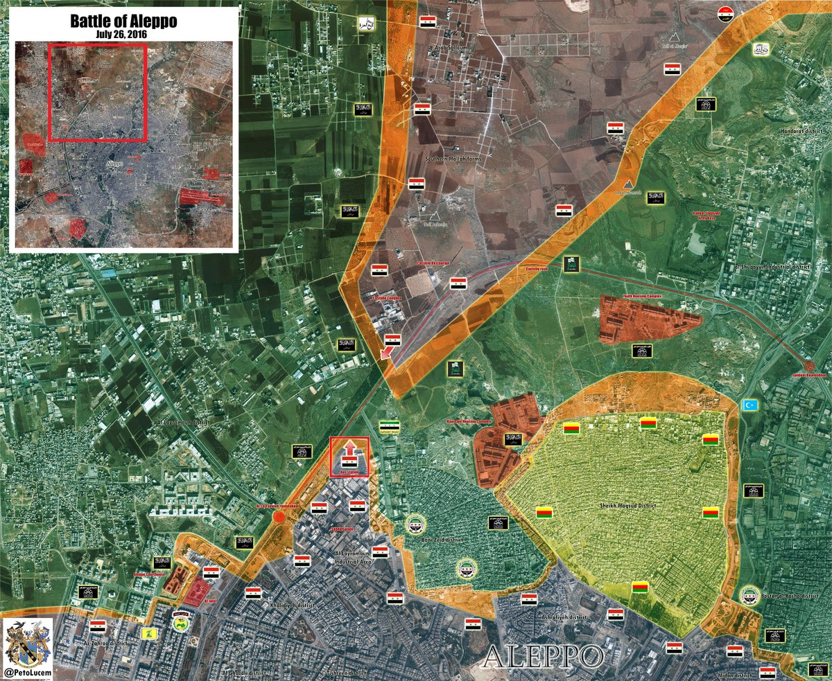 Jihadists' Defenses Collapse as Syrian Army Tightens Siege of Aleppo City
