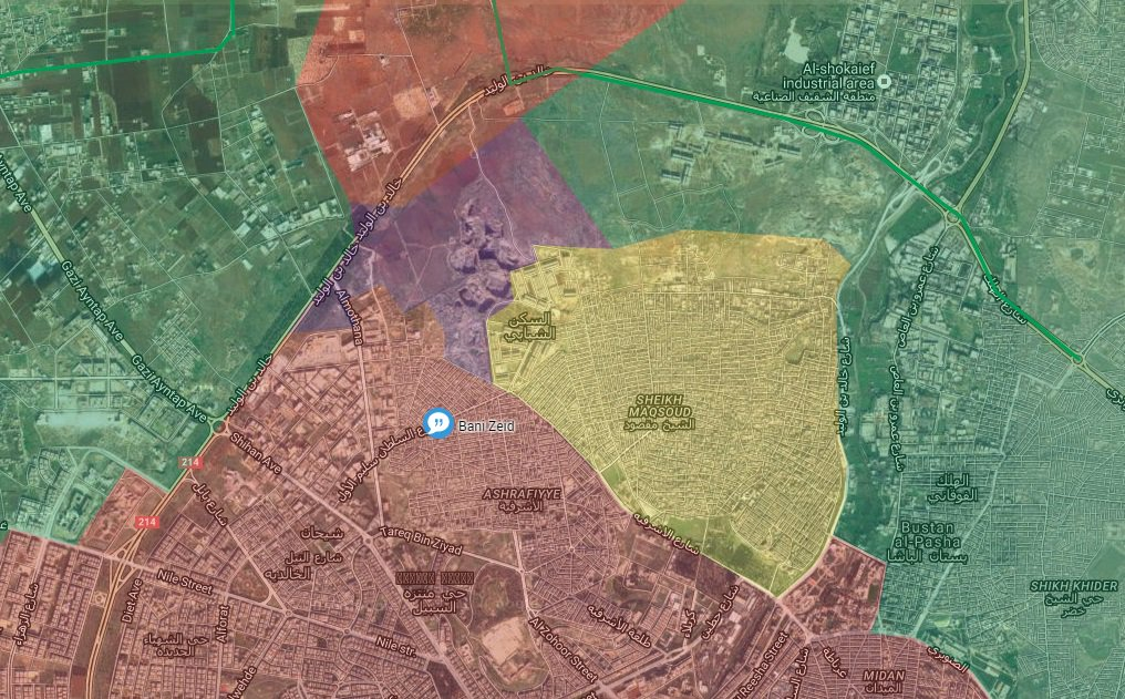 Syrian Army Sezies Bani Zeid Neighborhood of Aleppo City, Unites Front with Kurdish YPG