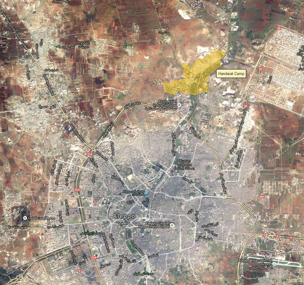 Syrian Army Advancing inside Handarat Refugee Camp near Aleppo City