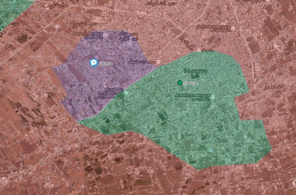 Pro-Government Forces Capture 50 Buildings in Darayya, Syria