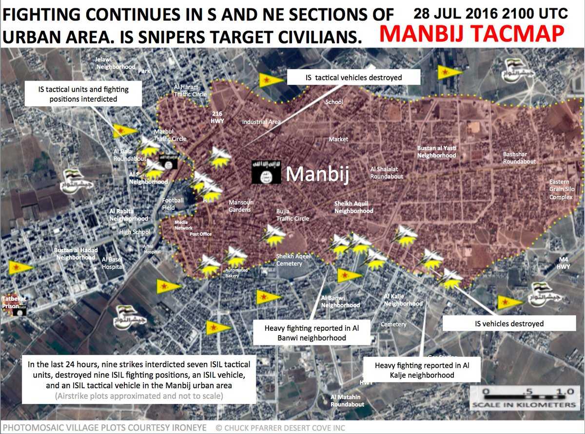 Military Situation in Manbij, Syria on July 28