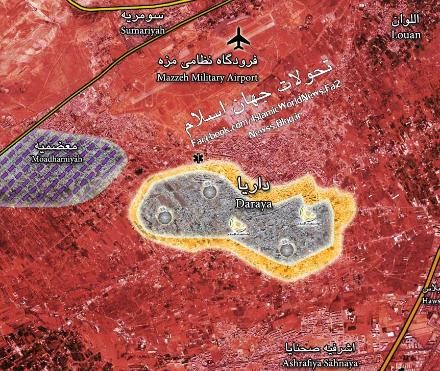 Military Situation in Darayya on July 29, 2016