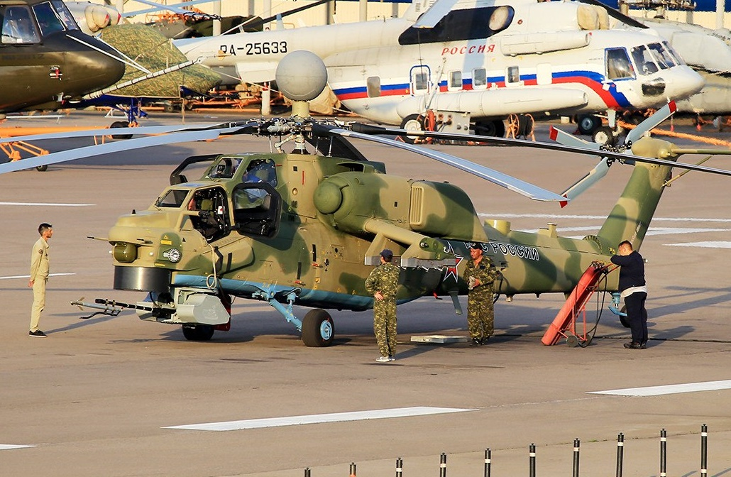 Improved Version of Russian Mi-28NM Attack Helicopter Spotted in Moscow