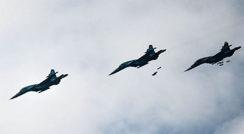 Russian Air Force launches several airstrikes over northern Aleppo as the Syrian Army prepares to attack