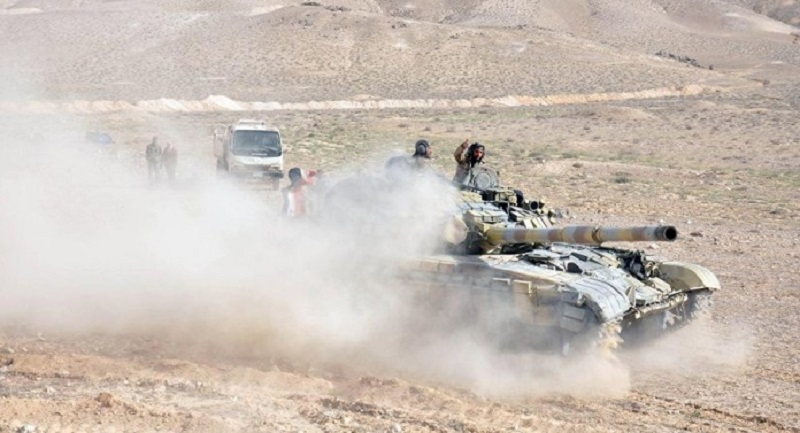 Syrian Arab Army counters ISIS in east Palmyra