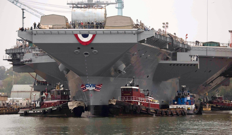 US Navy's New $13B Aircraft Carrier USS Gerald R. Ford Can't Fight