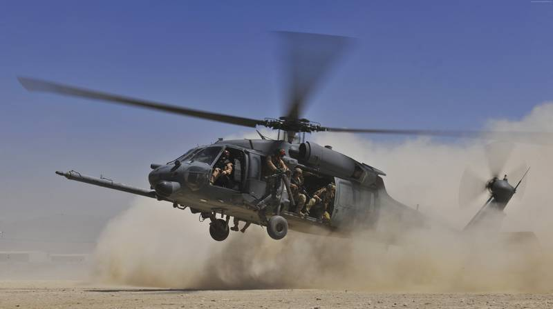 5 US Helicopters Black Hawk Arrive in Latvia