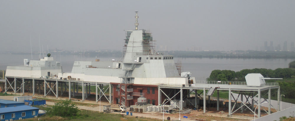 Type 055 DDG mock-up superstructure and integrated mast.